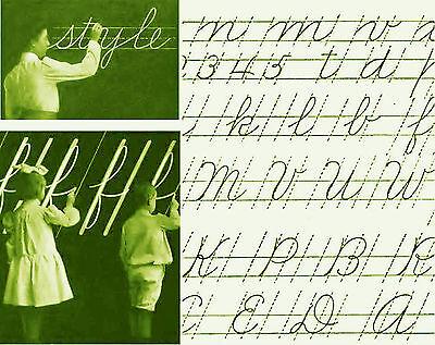 Vintage Cursive Handwriting penmanship teacher guide CD grade school home school