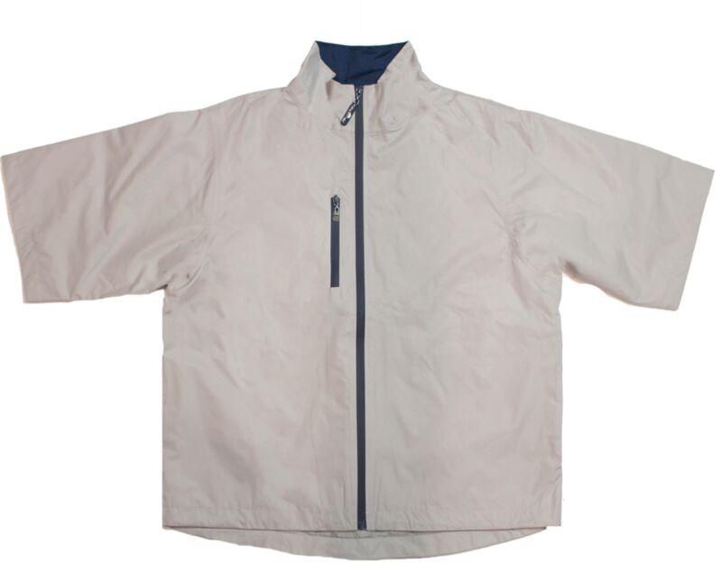 New The Weather Company Golf- Short Sleeve Waterproof Jacket Sand/True Navy XXXL