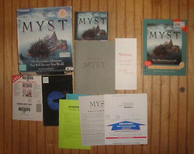 Myst Big Box PC CD-ROM for Windows 3.1 / Win 95 w/Strategy Guide