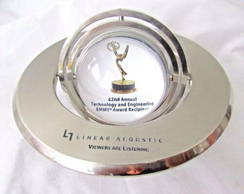 LINEAR ACOUSTIC 62nd Annual Technology & Engineering EMMY Award Globe w/Clock