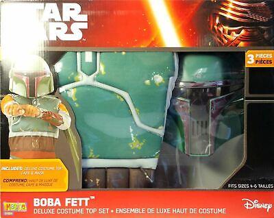 Star Wars Boba Fett Deluxe Kostüm Set Rubies Disney Nip Kinder 4 - 6 Jugend ()