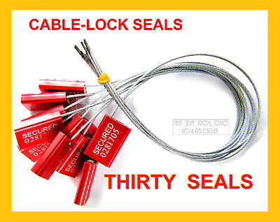 Cable-lock Security Seals Cargo Tanker Bright-red All-metal Thirty Seals