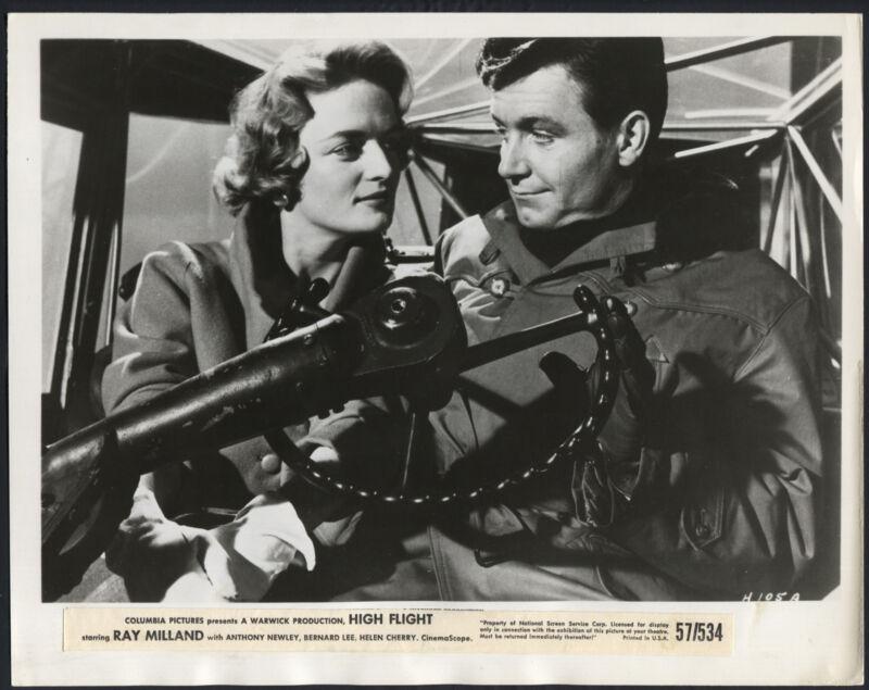 High Flight '57 KENNETH HAIG JAN BROOKS PILOT COCKPIT