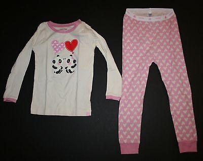 Baby Gap 2-tlg Pyjama rosa herzen Ballons küssen Pandas Schlafanzüge Größe 3T