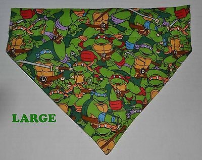 Tmnt Bandana (Teenage Mutant Ninja Turtles TMNT Over Collar Slide On Pet Dog Cat Bandana Scarf)
