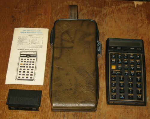 VINTAGE HP 41CV Programmable Calculator w//Case TESTED