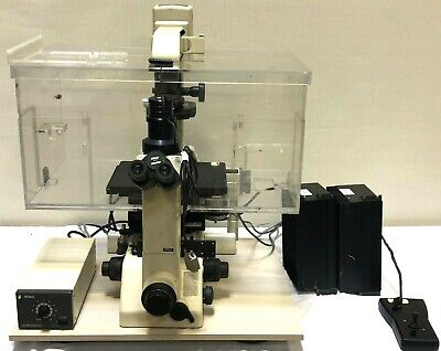 Nikon Diaphot 300 Inverted Phase Contrast Research Microscope W Case 2 Objs