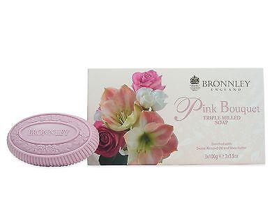 Bronnley Pink Bouquet Triple Milled Soap 3 X 100g ()