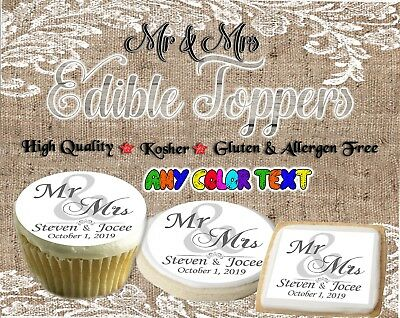 Wedding Mr and Mrs edible cookie toppers Monogram images pictures cupcakes easy - Halloween Easy Cupcakes