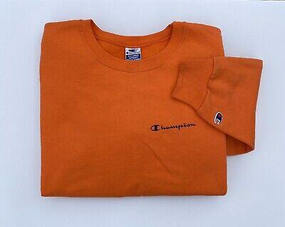 Vintage 90's Champion Orange Screen Print Crewneck Size 2XL