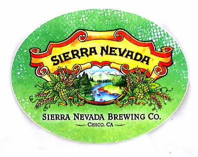 Sierra Nevada Brewery, Califorina - 3x3.75 Logo Beer Sticker Decal New!