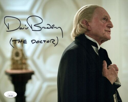DAVID BRADLEY Signed 8x10 DOCTOR WHO The Doctor Authentic Autograph JSA COA
