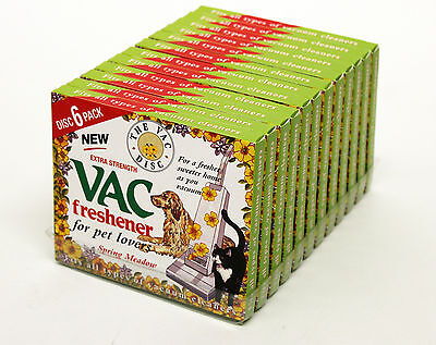 12 Packets of Vacuum Cleaners Freshener Discs 6 Pack, Spring Meadow (12 X 3651)