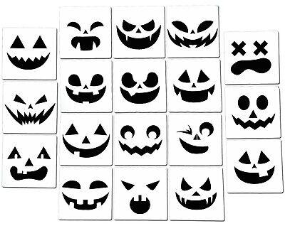 Halloween Pumpkin Stencils Jack o'Lantern Airbrush Spray Painting  (18