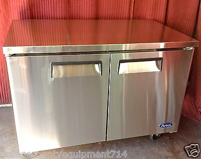 New 48 2 Door Under Counter Work Top Freezer Atosa Mgf8406 1235 Commercial Nsf