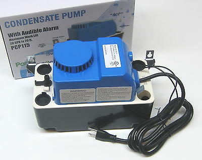 air conditioning condensate removal pump with safety