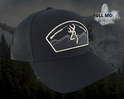 Browning Black Hat (New Browning Sierra Black Mens Snapback Hat Cap )