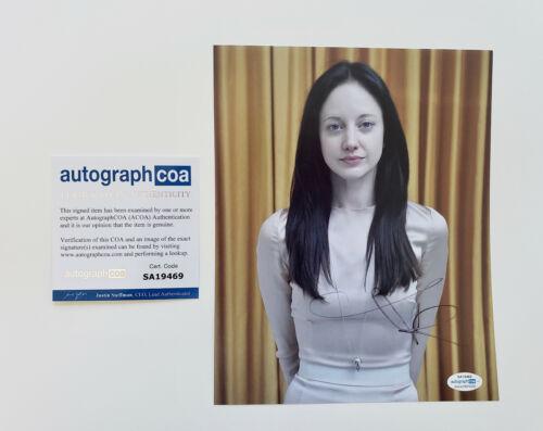 Andrea Riseborough 'Mandy' star Signed Autographed 8x10 Photo PROOF ACOA E