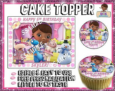 Doc Mcstuffins Edible Cake Toppers picture sugar tops paper image frosting