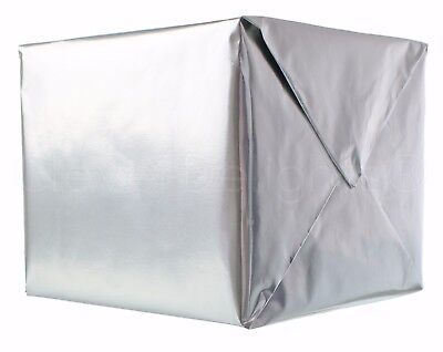 "Metallic Silver Wrapping Paper - 30"" x 300"" JUMBO Roll - 62.5 Sq Ft - Shiny Wrap"