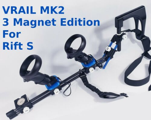 VRAIL MK2 Magnetic Gun Stock for Oculus Rift S and Quest 1 - 3 Magnet Edition