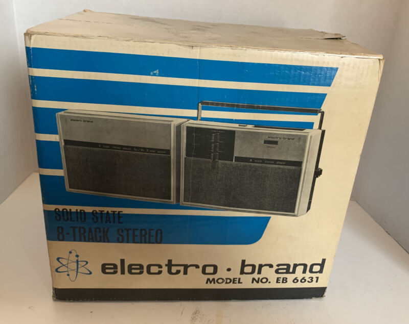 8 TRACK STEREO TAPE PLAYER Electro Brand Solid State EB6631 Made in Japan RARE