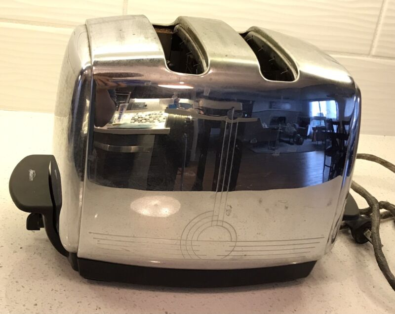 VINTAGE SUNBEAM T-20A RADIANT CONTROL AUTOMATIC DROP TOASTER - WORKS GREAT