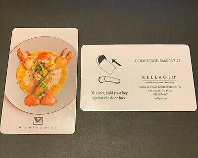 Bellagio Las Vegas Casino Resort Hotel Room Key Card Lobster Dinner Michael Mina