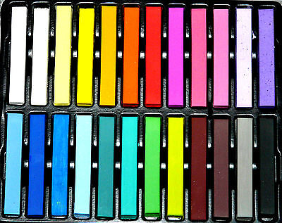 KREIDE tolle kräftig bunte trendy Farbe 24 Stück Schulkreide Tafel Pastell NEU