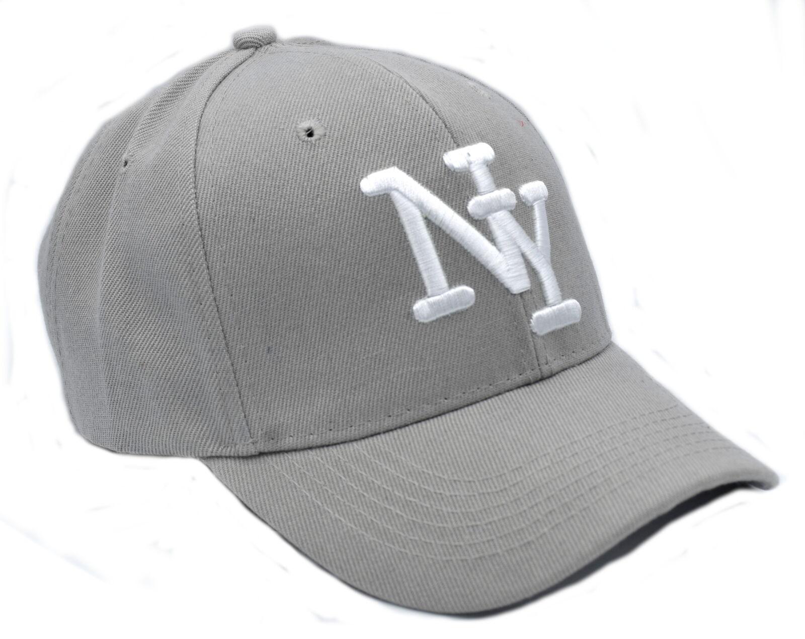 Cappy Herren Cap Kappe gebogener Schirm Basecap Mütze Klettverschluss NY Grau