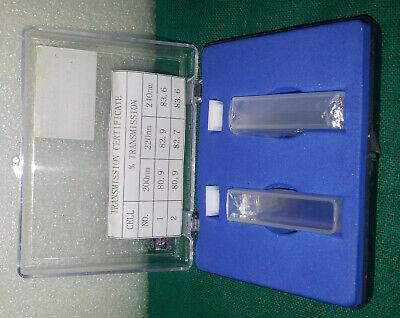 10mm Set Of 2 Quartz Cuvettes Cuvette Cell Spectrometer