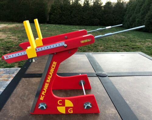 RC Plane Center of Gravity Ball Bearing CG Balancer Tool - Gorgeous Red