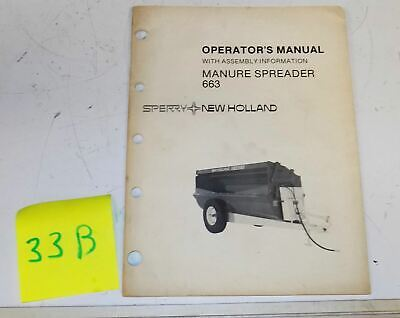 Sperry New Holland 663 Manure Spreader Operator Manual