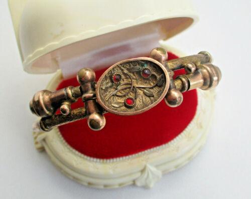 Vintage Victorian Garnet Bangle Bracelet