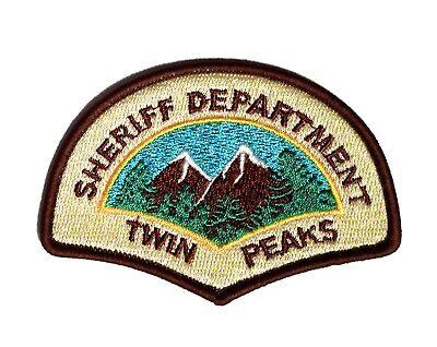 Twin Peaks Sheriff Dept. - Patch Aufnäher - Kostüm Aufnäher zum Aufbügeln - neu