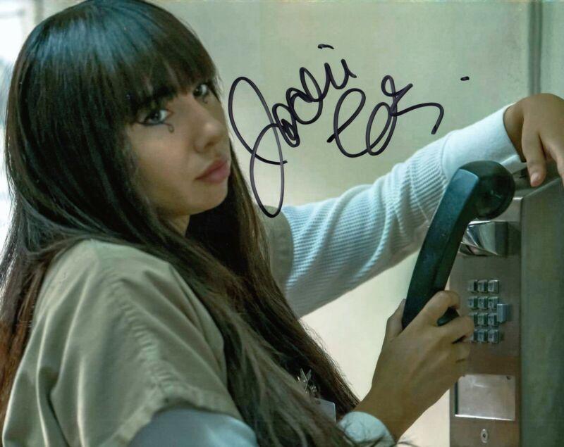 JACKIE CRUZ signed (ORANGE IS THE NEW BLACK) 8X10 Marisol Flaca Gonzales COA #2
