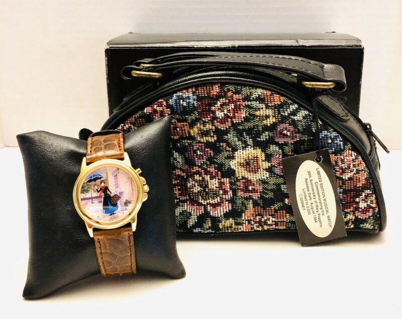 Disney Mary Poppins LTD ED #2286/5000 Musical Watch W/ Carpet Bag Brian Gall HTF