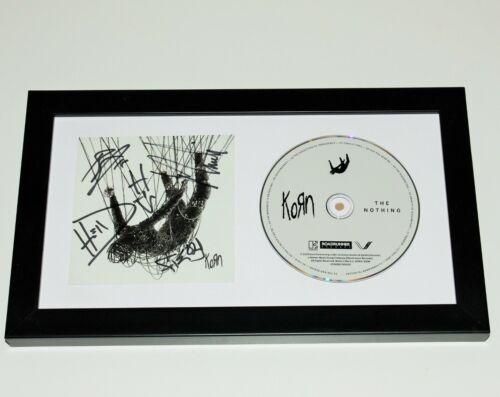 KORN BAND SIGNED FRAMED 'NOTHING' CD COVER ALBUM w/COA JONATHAN DAVIS HEAD WELCH