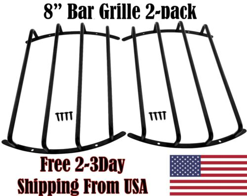 8 inch Bar Grill for Car Subwoofer & Speaker Audio Guard Grille in Black 2 PC