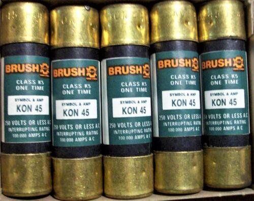 BRUSH KON45 Fuses 45A 250V NEW BOX OF 10 Free Shipping