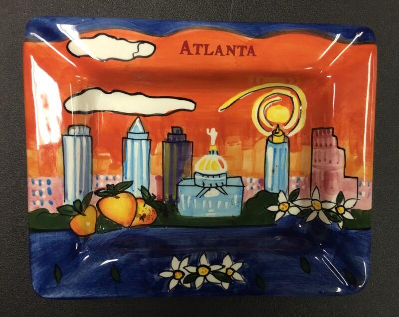 Ceramic Rectangular Ashtray Atlanta Skyline Atlanta, Georgia
