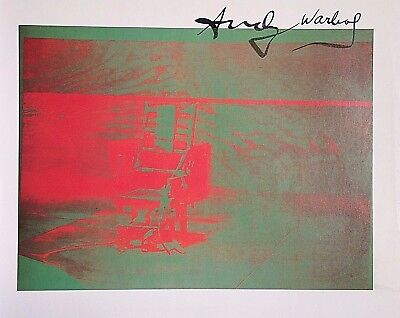 ANDY WARHOL HAND SIGNED SIGNATURE * BIG ELECTRIC CHAIR *  PRINT  W/ C.O.A.
