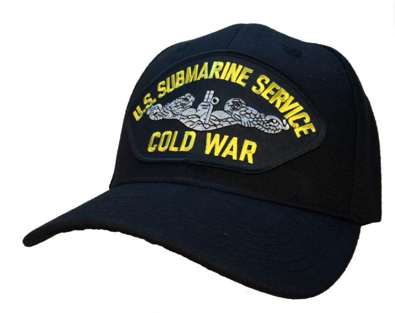 Submarine Service Veteran Hat - COLD WAR Version BLACK Ball Cap U.S. Navy