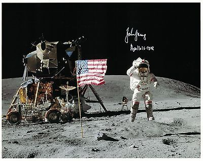 SALE!!!  Apollo 16 Astronaut John Young Signed Photo