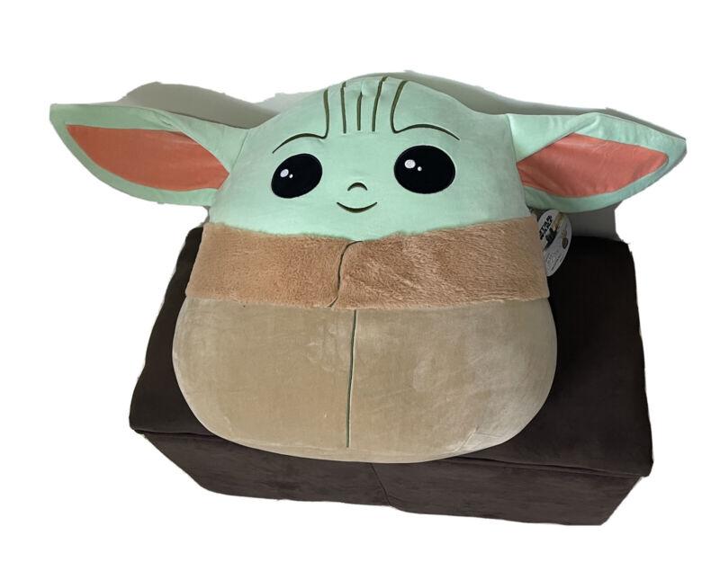 "Star Wars Mandalorian The Child Baby YODA ~ Squishmallow 20"" Inch XL new"