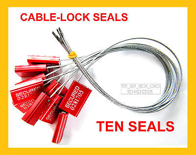 Cable-lock Security Seals Cargo Tanker Bright-red All-metal Ten Seals