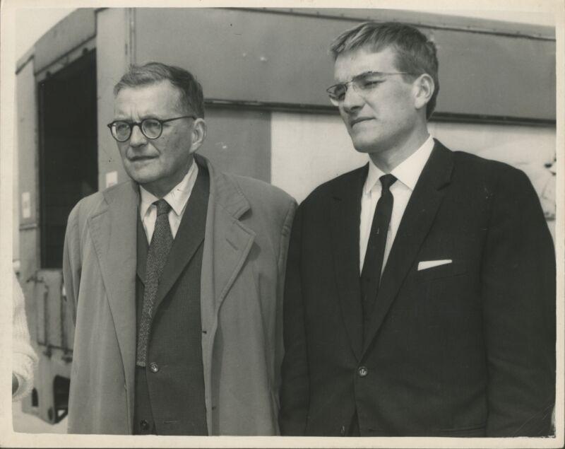 Dimitri SHOSTAKOVICH: Original 1962 Photograph with Son Maxim (COMPOSER)