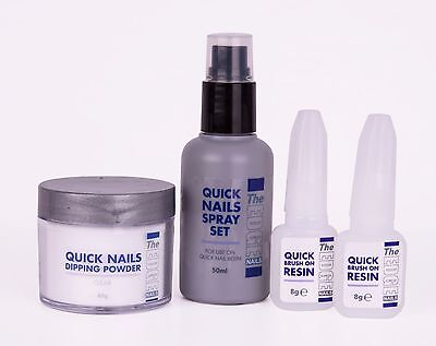 THE EDGE QUICK NAILS ACRYLIC DIPPING TRIAL KIT Student Nail Kit SAMEDAY DISPATCH
