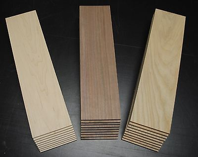 9 WALNUT 9 CHERRY 9 MAPLE THIN BOARDS LUMBER WOOD 1/4