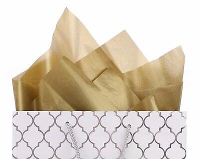 100 Pack - Metallic Gold Tissue Paper - 20
